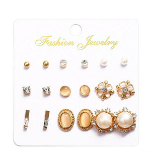 Fashion Earrings 9pairs