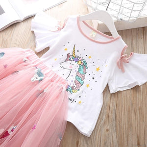 Unicorn Off Shoulder Top & Skirt - Mom and Bebe Ph