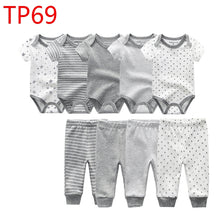 Load image into Gallery viewer, 9pcs Baby Clothing Onesies & Pants