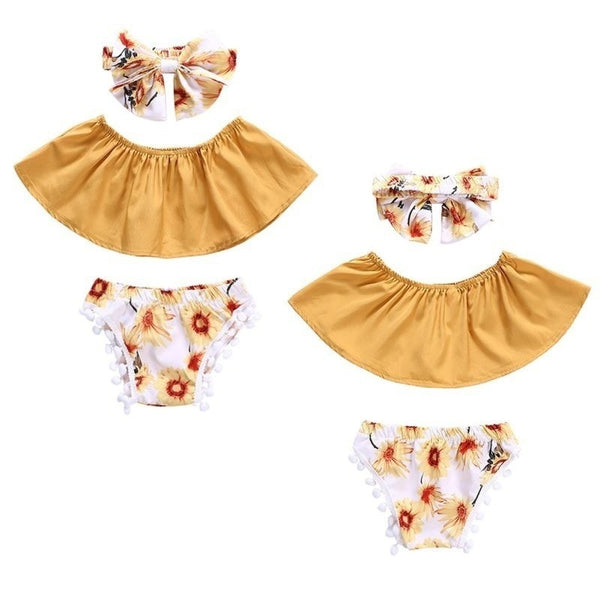 Sunflower Set Baby Outfit - Mom and Bebe Ph