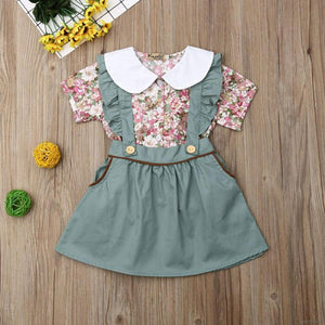 Floral Top Green Jumpskirt