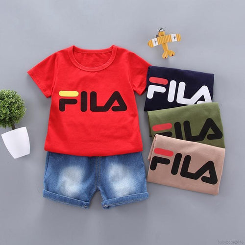 1 Tshirt & Denim Shorts Set - Mom and Bebe Ph