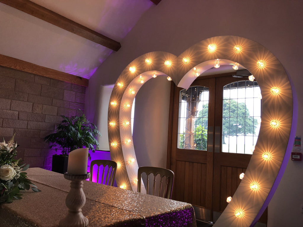 7ft Heart Archway w/ Diamante Fairground Bulbs, Archways, Scene My Event, Scene My Event - Scene My Event