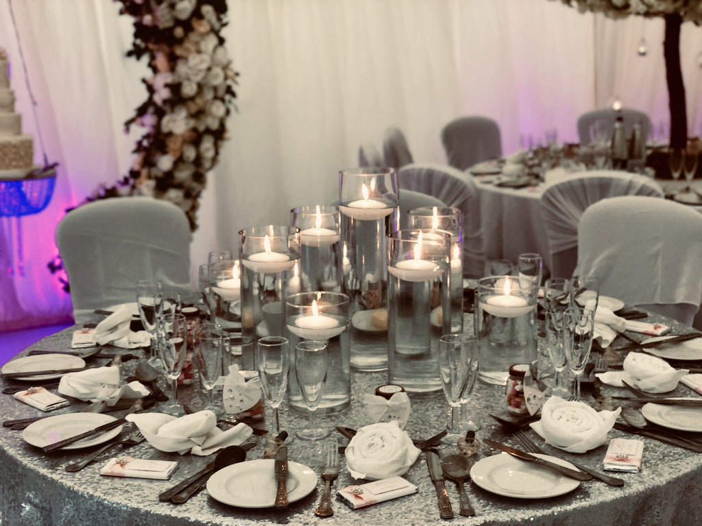 Floating Candle Arrangement Centrepiece