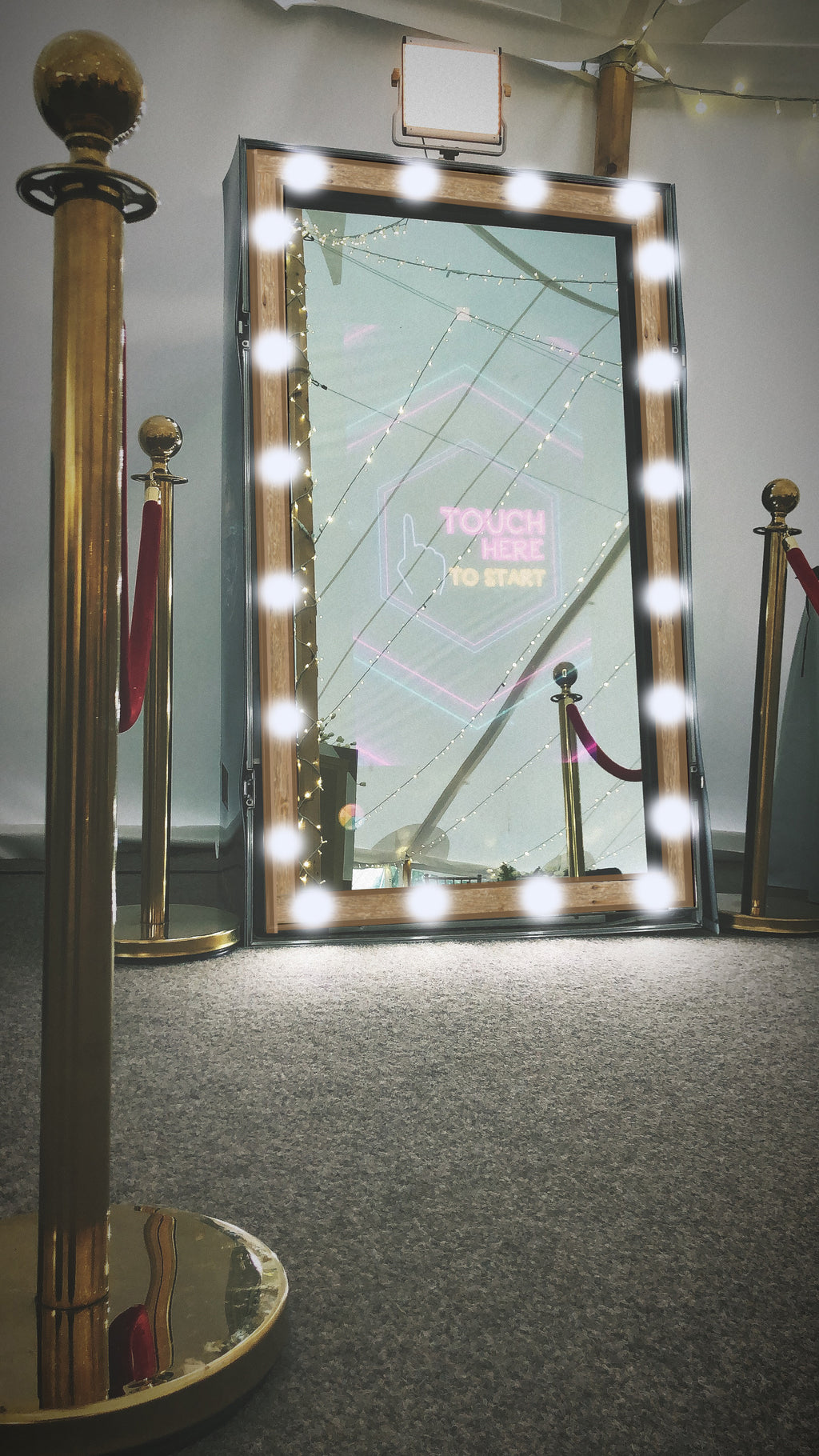 Rustic Hollywood Magic Mirror Photo Booth