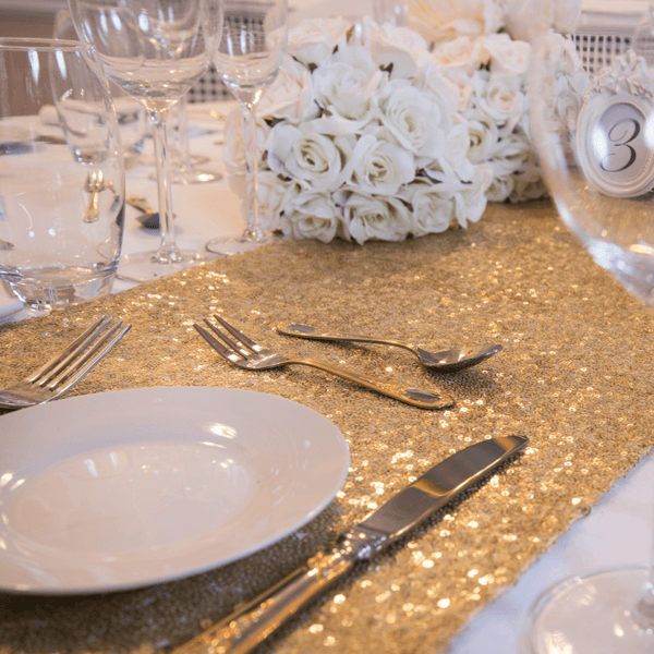 Celestial Gold Sequin Table Runners, Table Runners, Scene My Event, Scene My Event - Scene My Event