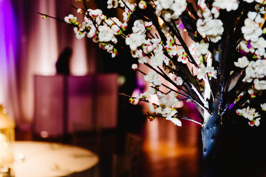 6ft White Winter Blossom Tree Centrepiece, Centrepiece, Scene My Event, Scene My Event - Scene My Event