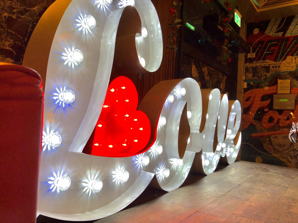 4ft Signature Love Letters, Letter Lights, Scene My Event, Scene My Event - Scene My Event