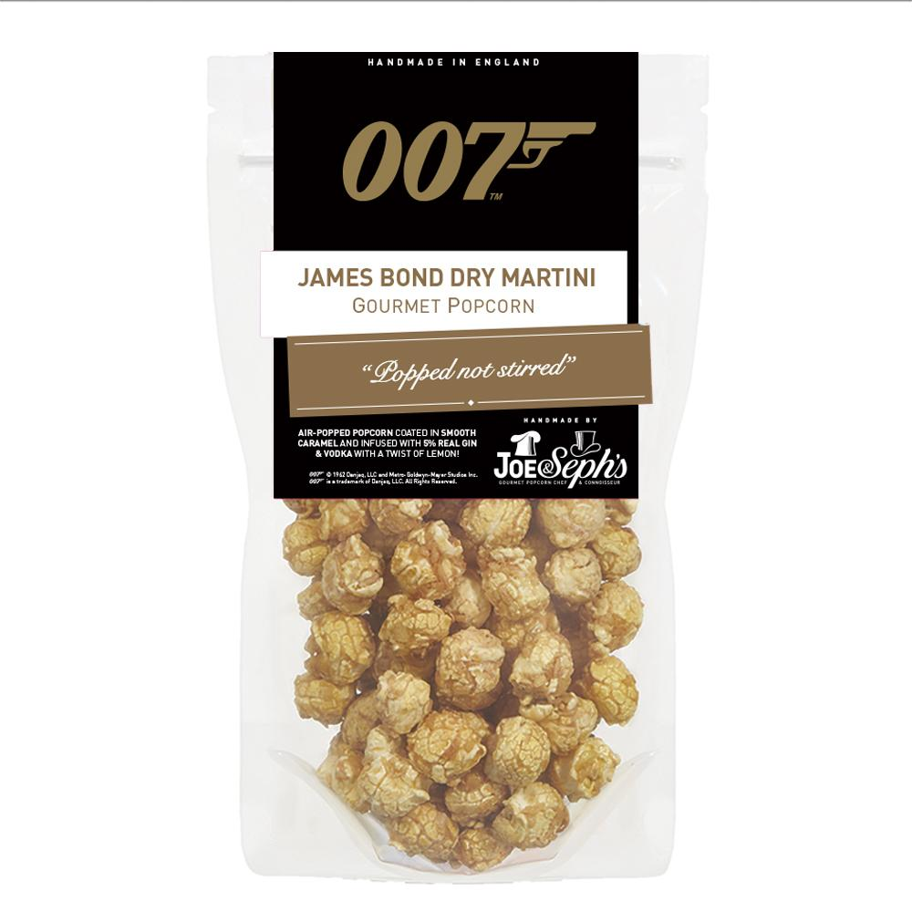 Gourmet James Bond Dry Martini Popcorn - No Time To Die Edition - By Joe & Seph's