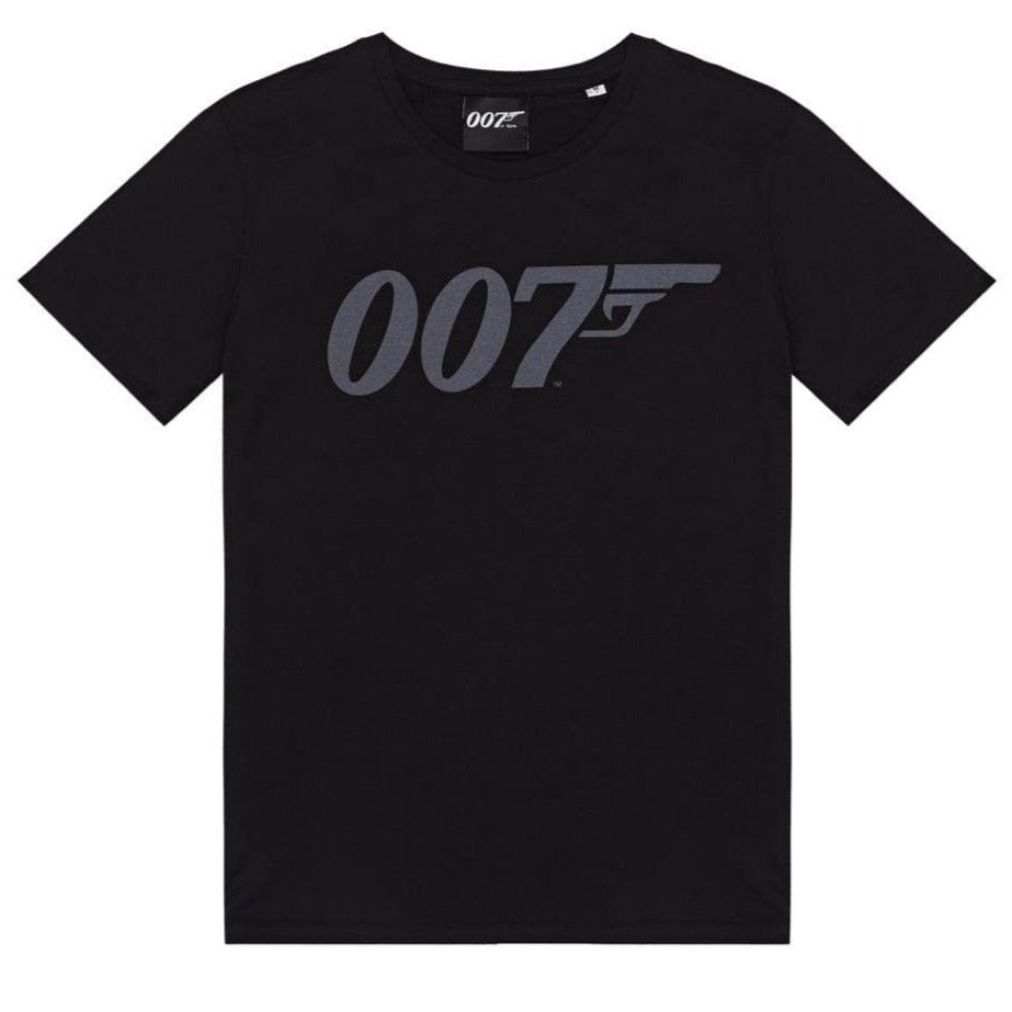 Black 007 Logo Organic Cotton T-Shirt - 007STORE