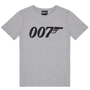 Grey Marl 007 Logo Organic Cotton T-Shirt - 007STORE