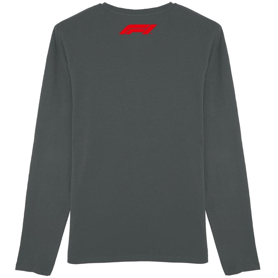 Charcoal Grey Formula 1 007 Long Sleeve T-Shirt l Official James Bond 007 Store