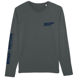 Charcoal Grey 007 Formula 1 Long Sleeve T-Shirt - 007STORE