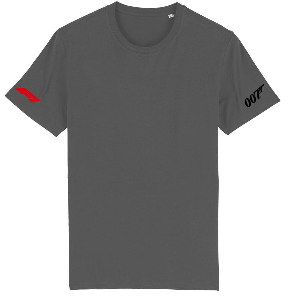 Charcoal Grey Formula One 007 T-Shirt l Official James Bond 007 Store