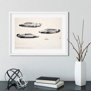 Ken Adam Lotus Esprit Submarine Art Print - Numbered Edition (Unframed) - 007STORE