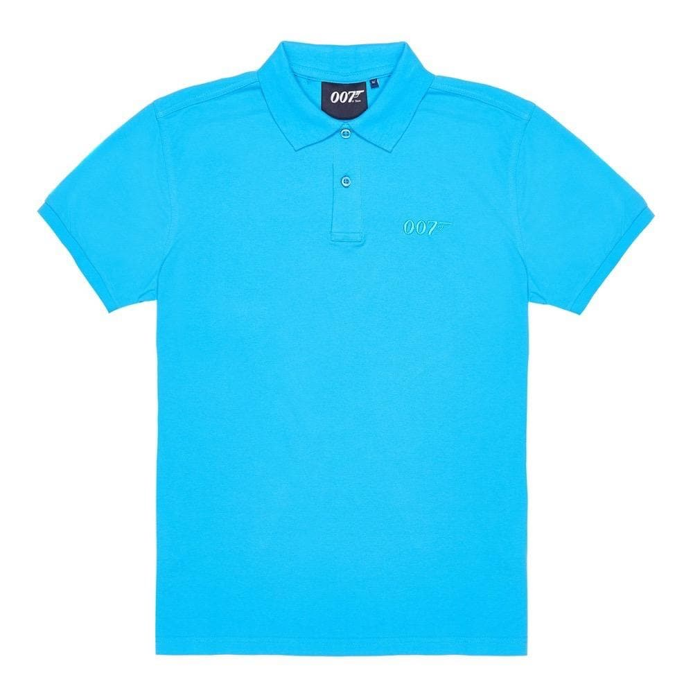 Turquoise 007 Embroidered Polo Shirt - 007STORE