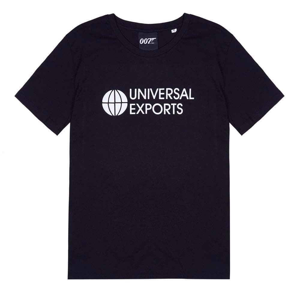Black Universal Exports T-Shirt l Official James Bond 007 Store