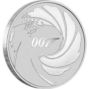 James Bond 1oz Silver Coin - Limited Edition - By The Perth Mint