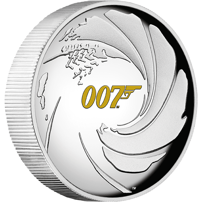 James Bond 1oz Silver Proof Relief Coin - Numbered Edition - By The Perth Mint