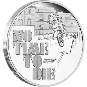 James Bond 1oz Silver Proof Coin - No Time To Die Numbered Edition - By The Perth Mint