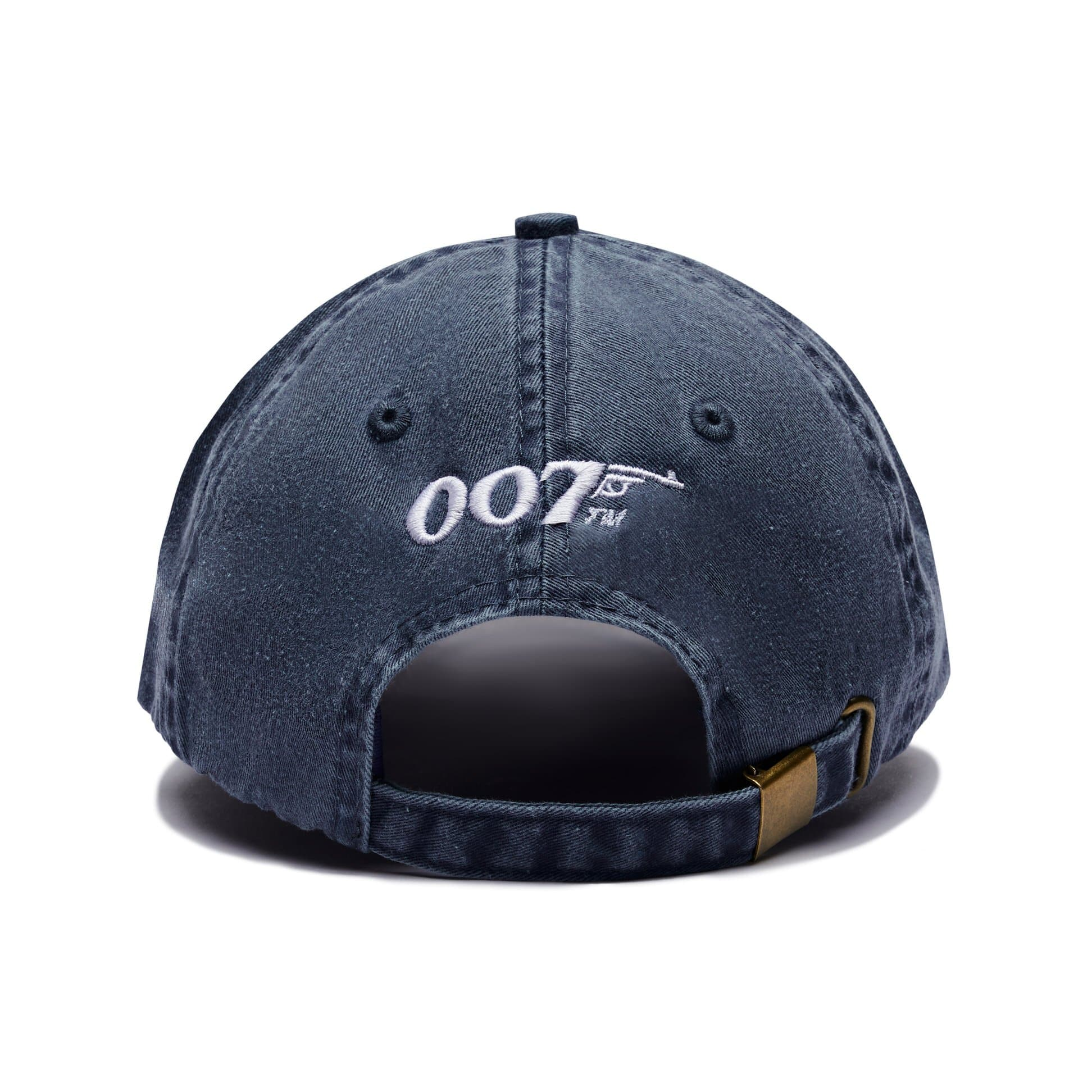 Retro 007 Logo Embroidered Baseball Cap - Denim Blue