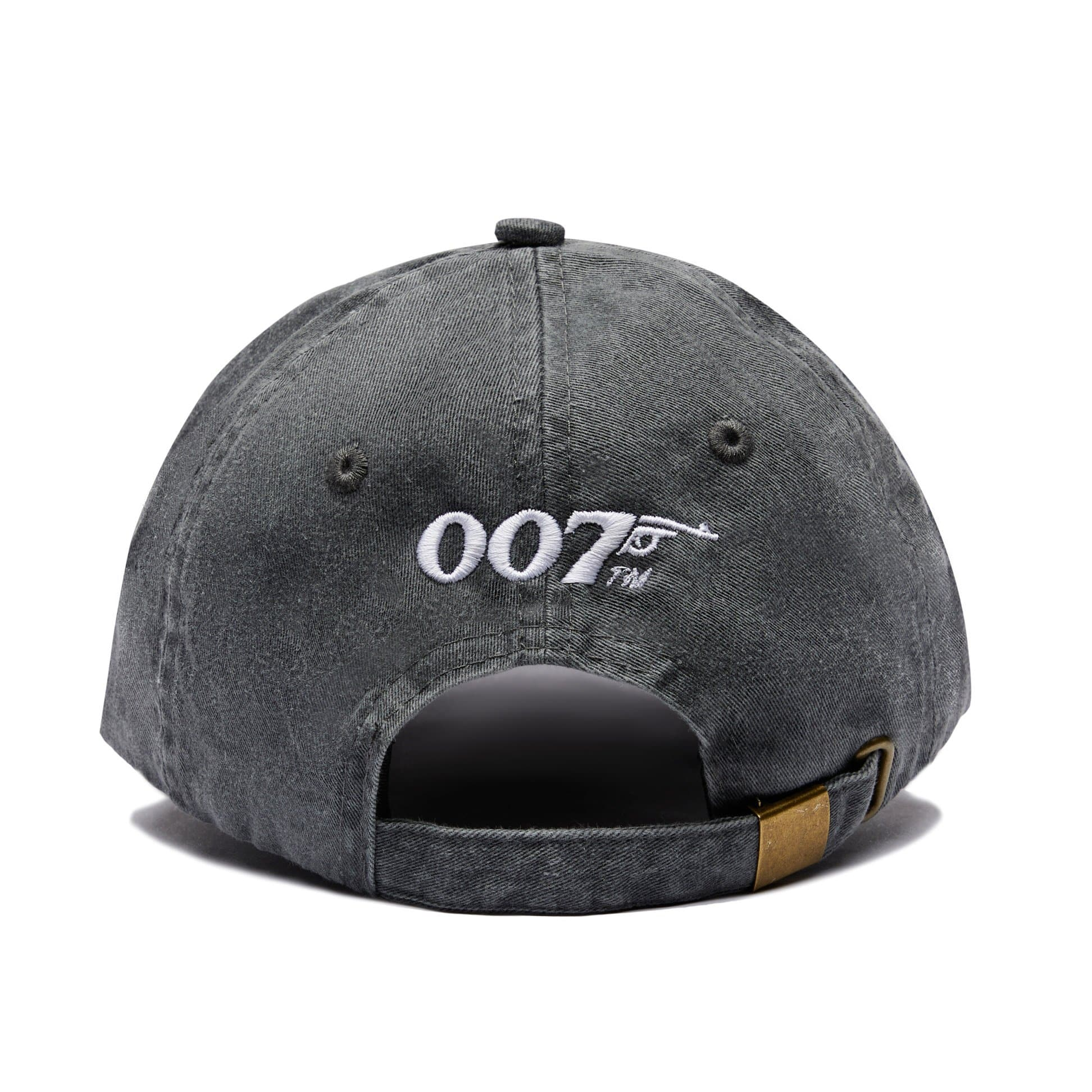 Retro 007 Logo Embroidered Baseball Cap - Charcoal Grey
