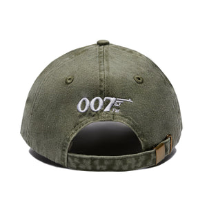 Retro 007 Logo Embroidered Baseball Cap - Olive Green