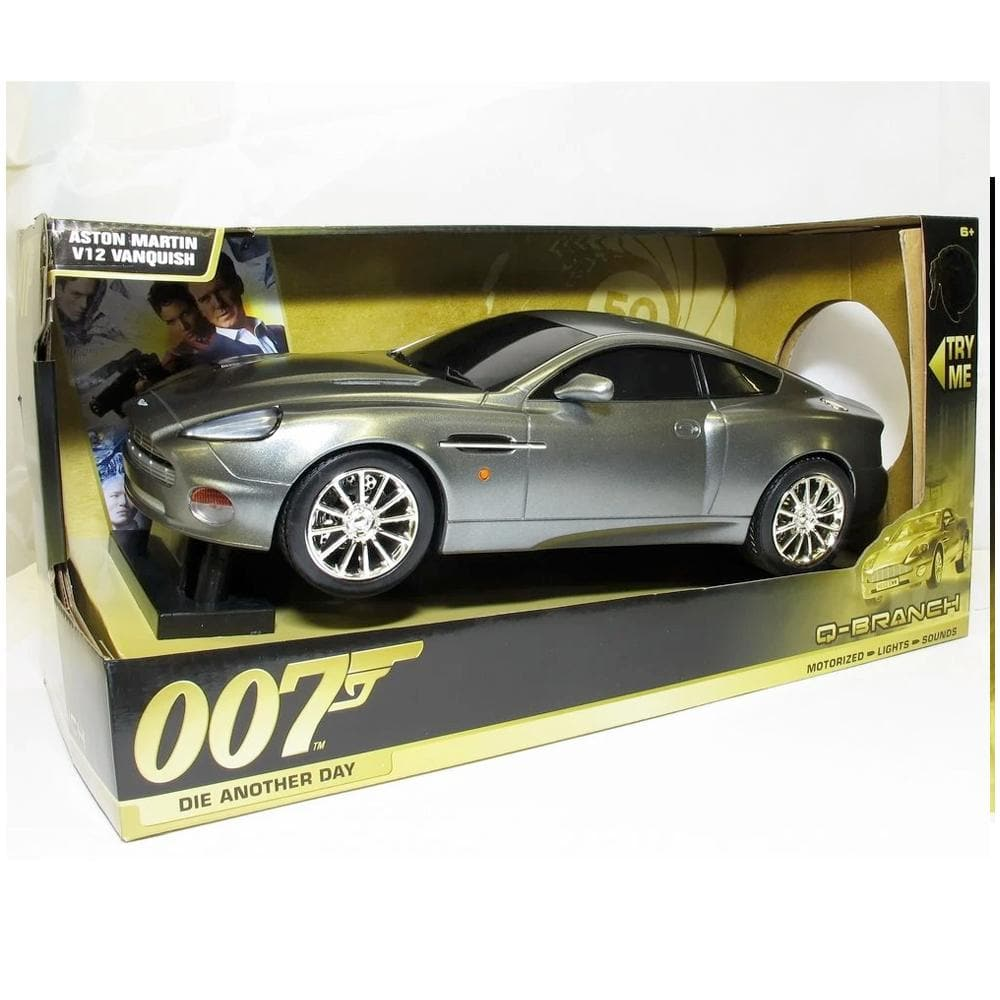 007 Aston Martin V12 Vanquish Light & Sound Car - Die Another Day Q Branch Edition - By Toy State - 007STORE