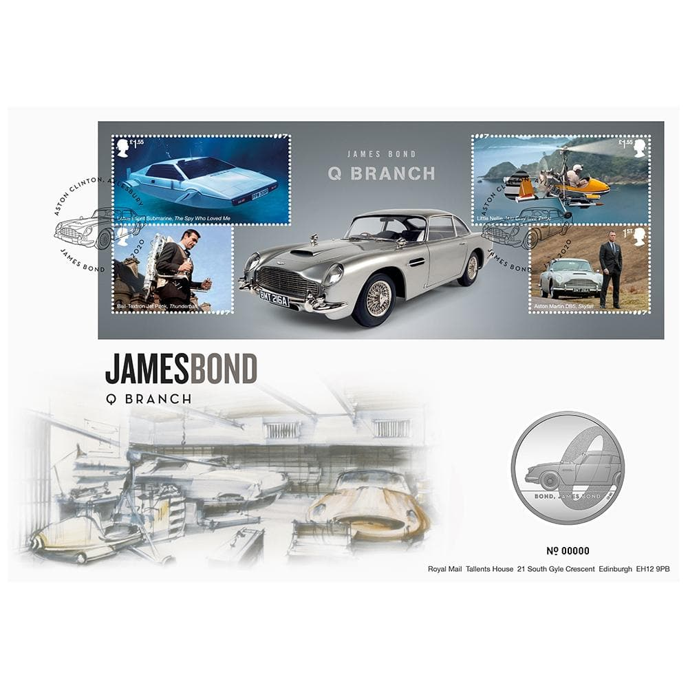 Royal Mail James Bond Q Branch Brilliant Uncirculated Coin Cover - Limited Edition - 007STORE