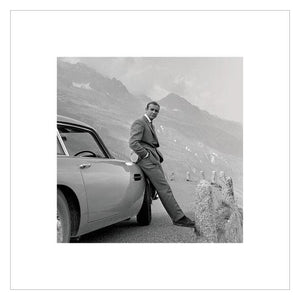 James Bond With Aston Martin DB5 Photographic Art Print (40cm x 40cm) - 007STORE