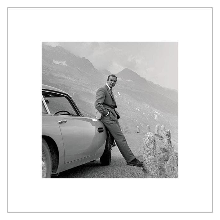 JAMES BOND (ASTON MARTIN) 40 x 40CM ART PRINT
