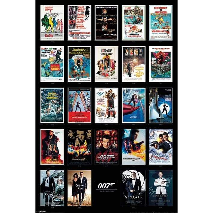 First 24 Films James Bond Poster - Maxi Size - 007STORE