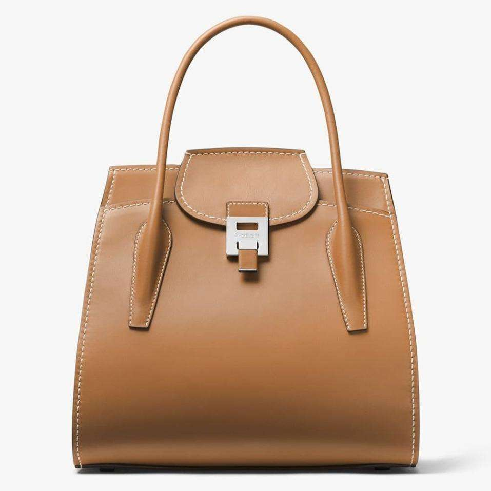 MKC x 007 Bond Bancroft Satchel in Smooth Calf Leather - by Michael Kors Collection - 007STORE