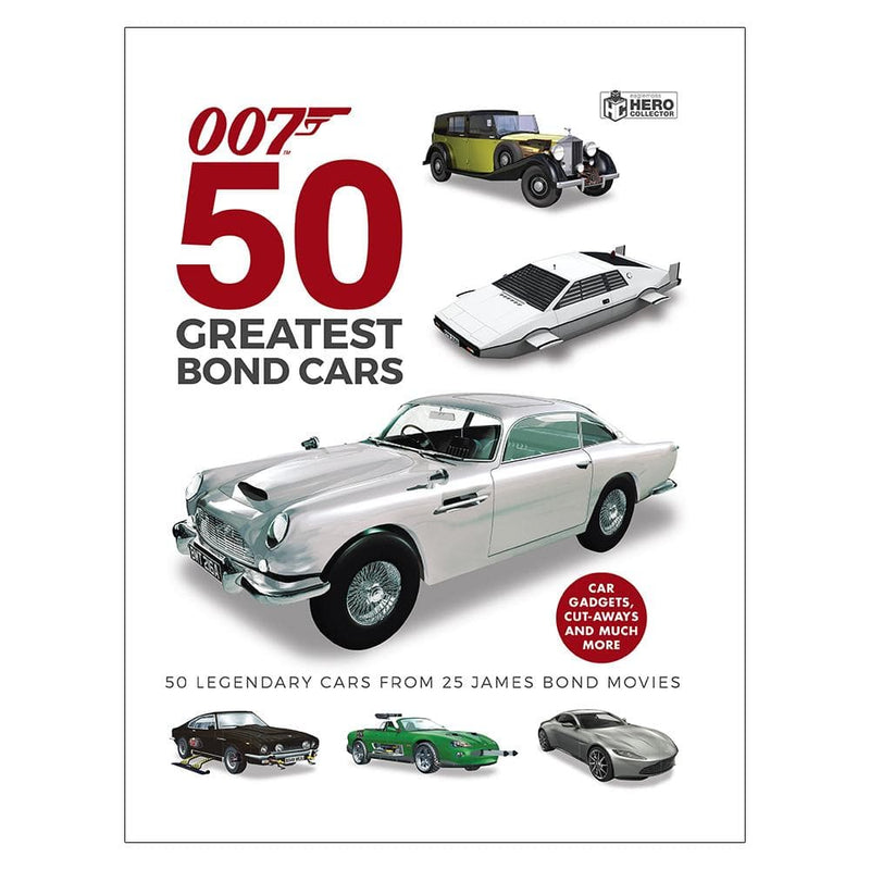50 Greatest Bond Cars 007 Hardback Book - By Ben Robinson (Pre-order)