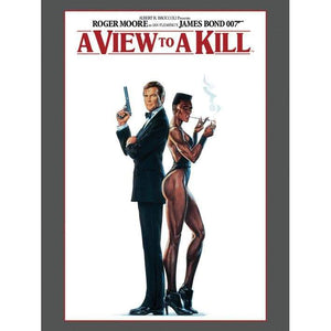 A View To Kill Poster Art Canvas (30cm x 40cm) - 007STORE
