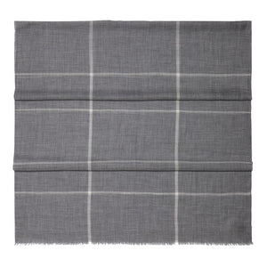 Grey Check Fine Gauge Cashmere Scarf - The Living Daylights Limited Edition By N.Peal - 007STORE