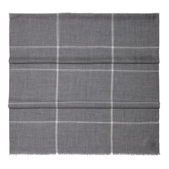 Grey Check Fine Gauge Cashmere Scarf - The Living Daylights Limited Edition By N.Peal