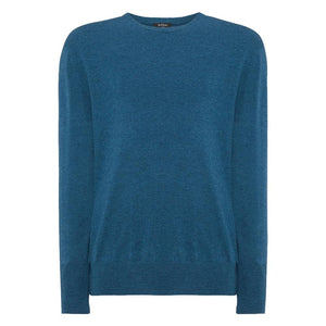 Blue Wave Crew Neck Cashmere Sweater  - Skyfall Limited Edition By N.Peal - 007STORE