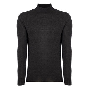 Charcoal Cashmere/Silk Mock Turtleneck Sweater - Spectre Limited Edition By N.Peal - 007STORE