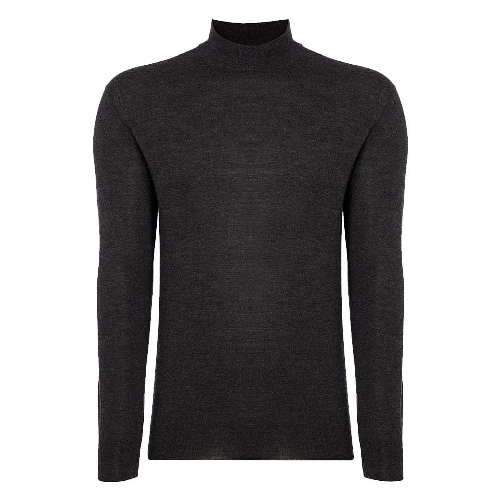 Charcoal Cashmere/Silk Mock Turtleneck Sweater l Official James Bond 007 Store