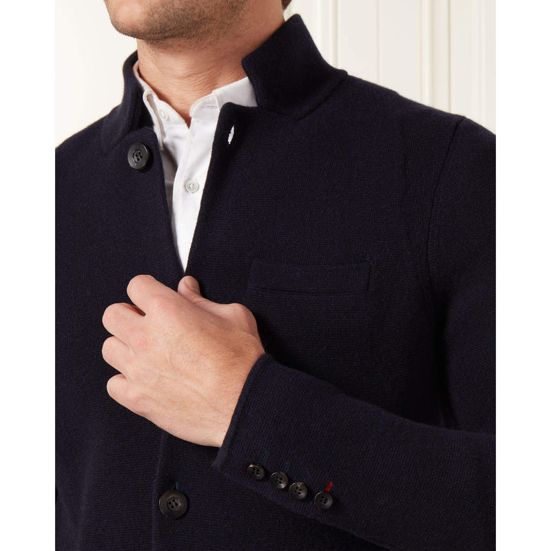 Navy Blue Cashmere Milano Knit Jacket - Goldfinger Limited Edition by N.Peal - 007STORE