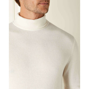 Ivory Cashmere Roll Neck Sweater - On Her Majesty's Secret Service Limited Edition By N.Peal - 007STORE