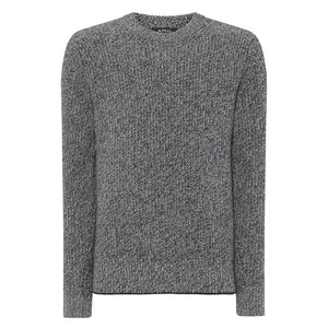 Grey Marl Chunky Cashmere/Merino Sweater - For Your Eyes Only Limited Edition By N.Peal - 007Store