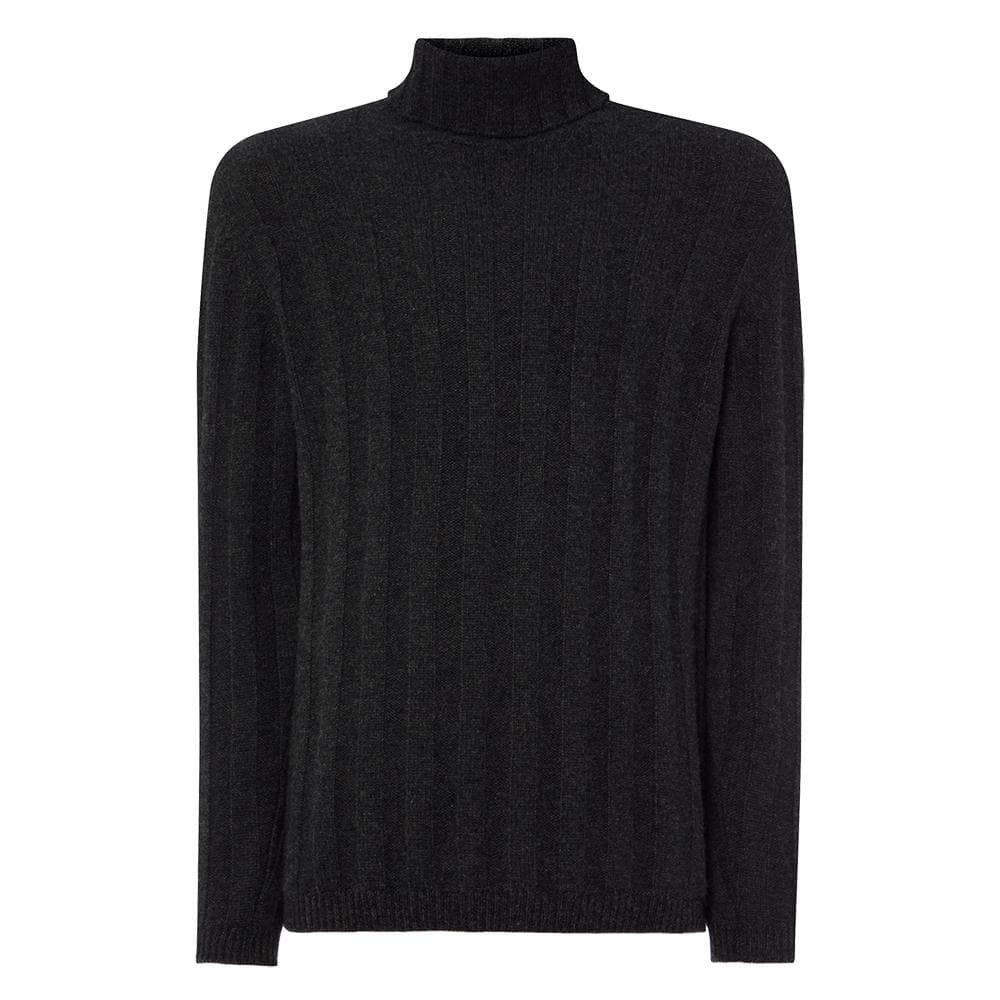 Chunky Rib Cashmere/Merino Roll Neck Sweater l Official James Bond 007 Store