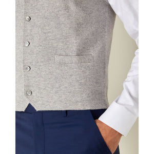 Fumo Grey Cashmere Milano Knit Waistcoat - Goldfinger Limited Edition By N.Peal - 007STORE