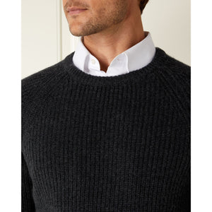 Charcoal Cashmere/Merino Fisherman's Rib Sweater - The Living Daylights Limited Edition By N.Peal - 007STORE