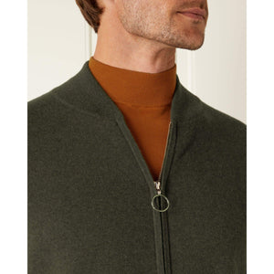 Brown Cashmere Bomber Jacket - On Her Majesty's Secret Service Limited Edition By N.Peal - 007STORE