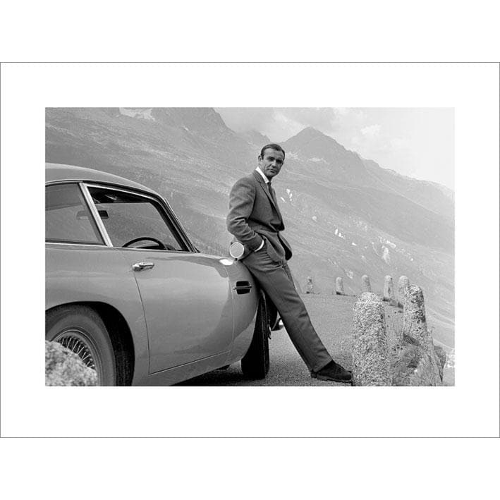 James Bond With Aston Martin DB5 Photographic Art Print (60cm x 80cm) - 007STORE