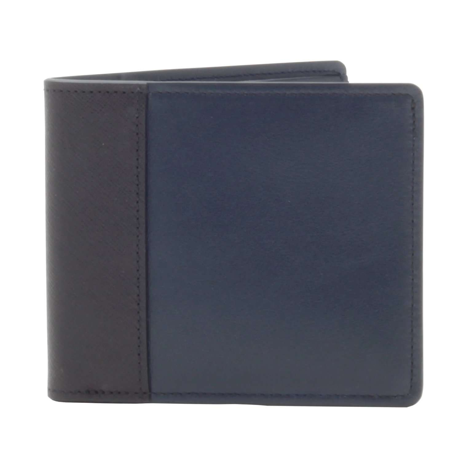 007 Navy Leather Billfold Wallet By Globetrotter - 007STORE