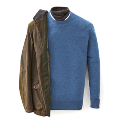 Blue Wave Crew Neck Cashmere Sweater  - SKYFALL Limited Edition By N.Peal